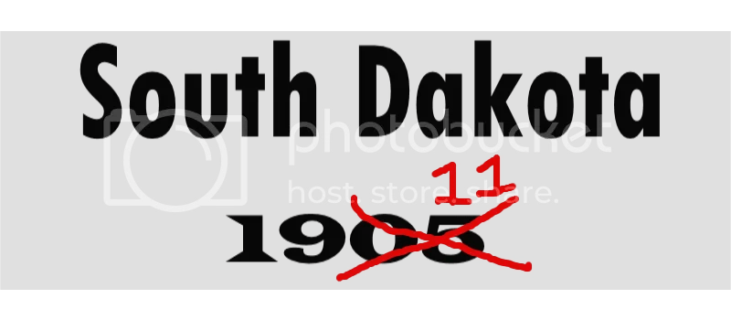 South Dakota 1905