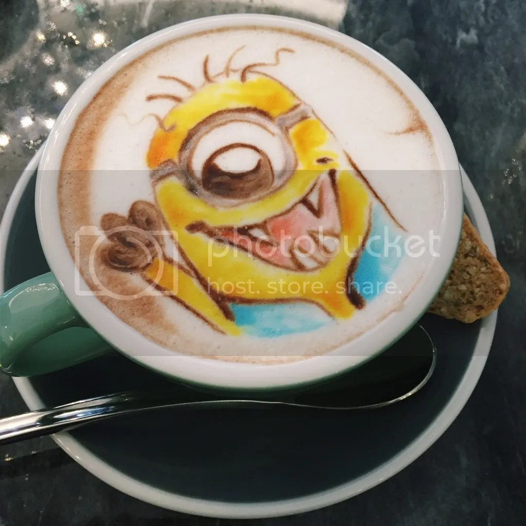 Atmosphere Cafe & Bistro Halloween Minion Latte Art