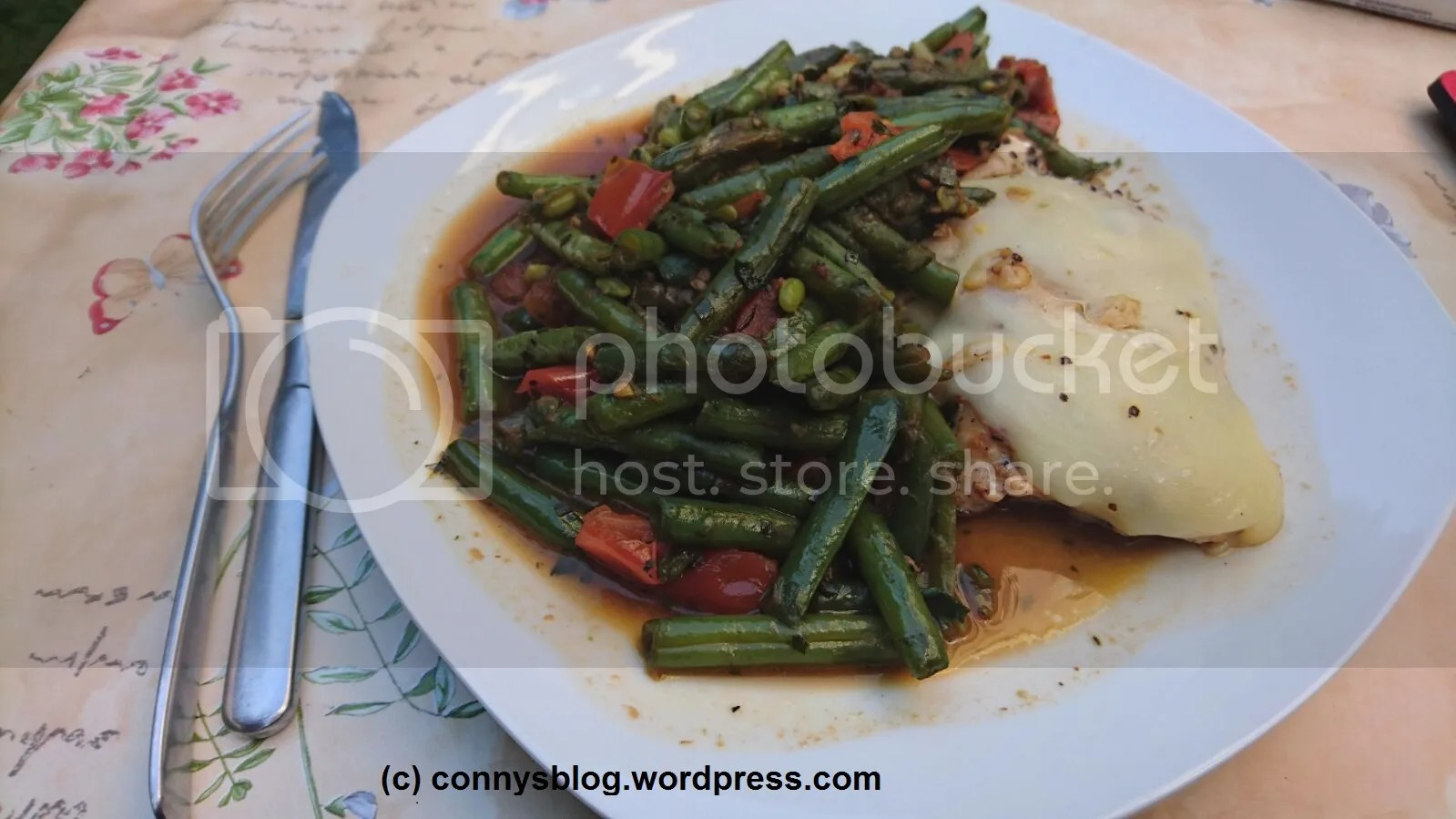 Hähnchenbrust mit grünen Bohnen - connys low carb photo Haumlhnchenbrust mit gruumlnen Bohnen_zpsmwrhbgro.jpeg