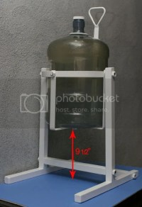 5 Gallon Glass - Jug Water Bottle Metal Pouring Stand ...