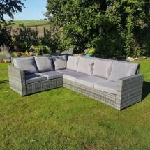 Grey Rattan Wicker Garden Patio Furniture Set Corner Sofa