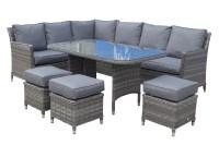 Rattan Outdoor Patio Garden Corner Sofa Dining Table ...