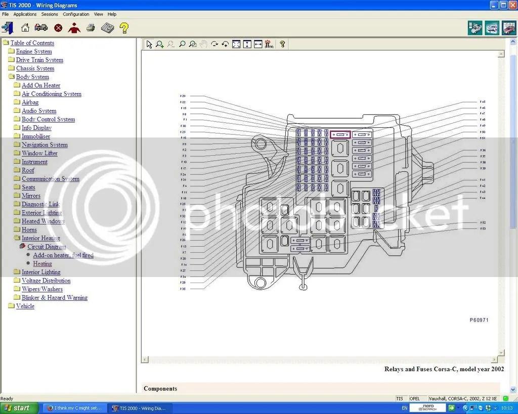Vauxhall Corsa C Fuse Box Diagram Data Schema
