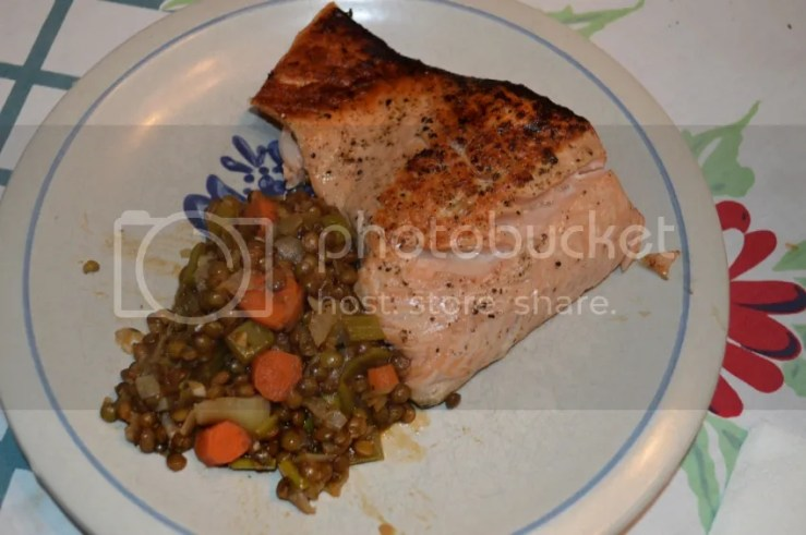 at mimi's table: delicious and nutritious salmon and French lentils