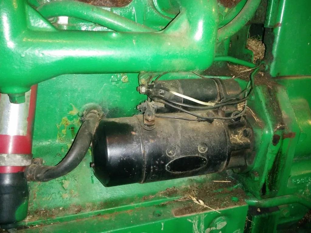 john deere 4020 starter wiring diagram 92 jeep cherokee sport radio 12v la105
