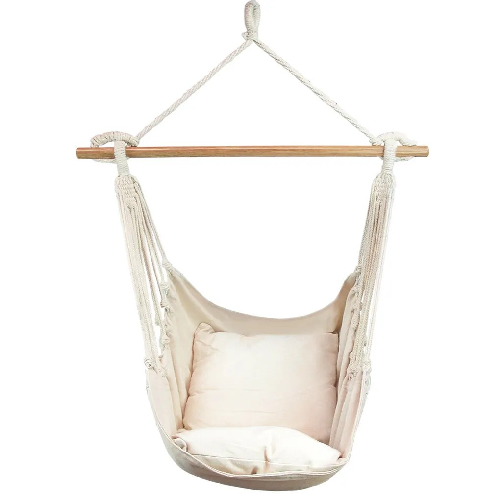 swing chair range stackable metal patio chairs deluxe hanging hammock includes luxuriously
