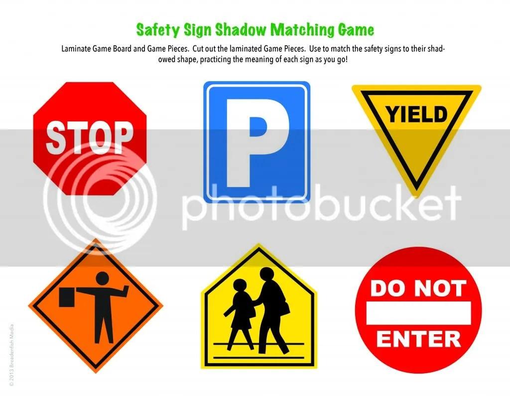 Safety Signs Activities For Preschoolers