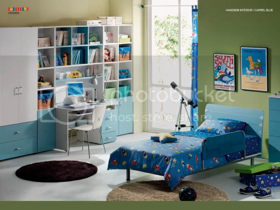 kids blue room
