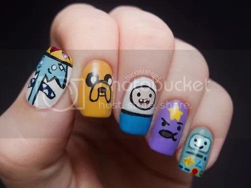 The Adventure Time Nail art