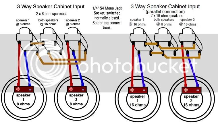 wiring a 3 speaker cabinet homedesignview co rh homedesignview co Two-Way Switch Typical 3-Way Switch Diagram