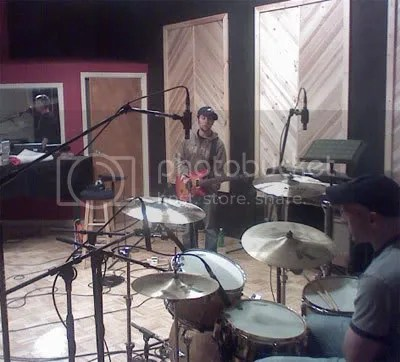 Working it out in the live room.