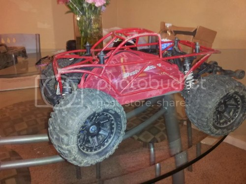 small resolution of i have 1 on my stampede 4x4 and i love it the temps are way lower never break a body and it just looks tough the ones i have are made by vg racing