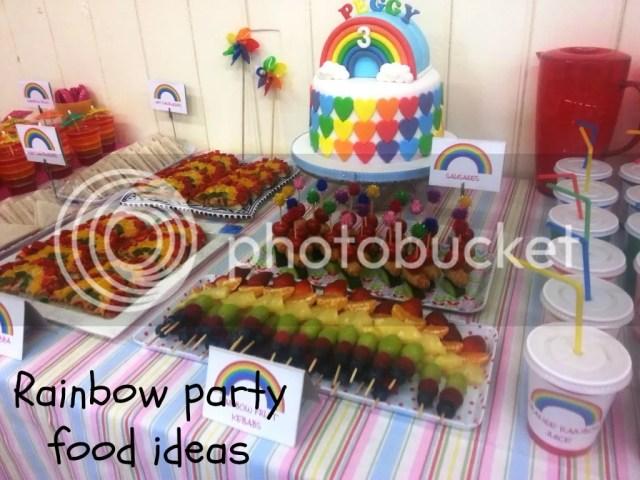 rainbow party food ideas