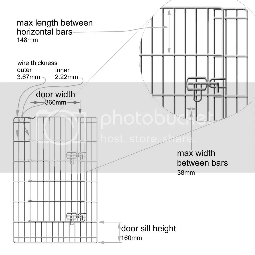 8 Side 91cm Tall Pet Playpen Dog Cat Puppy Play Pen Cage