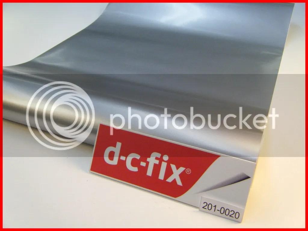 Dc Fix Silver Chrome Matte Steel 1m X 45cm Sticky Back