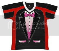 Pink Tuxedo Tux Fake Suit And Tie Classy Snazzy Formal ...