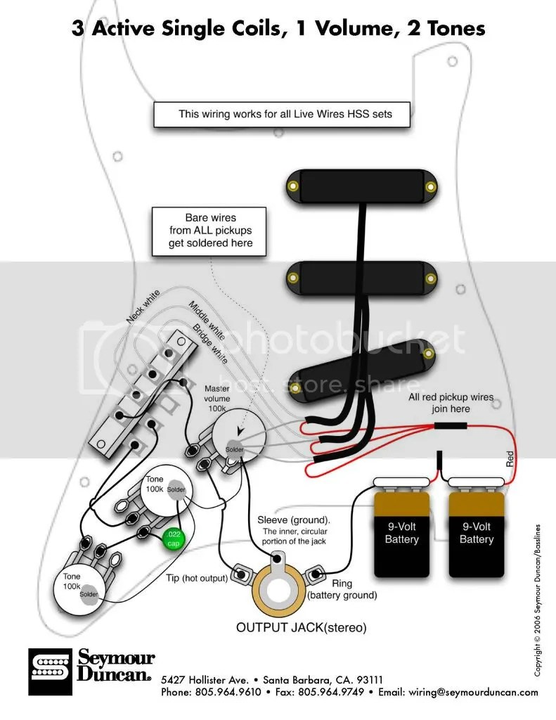 Active Guitar Pickup Wiring Diagrams