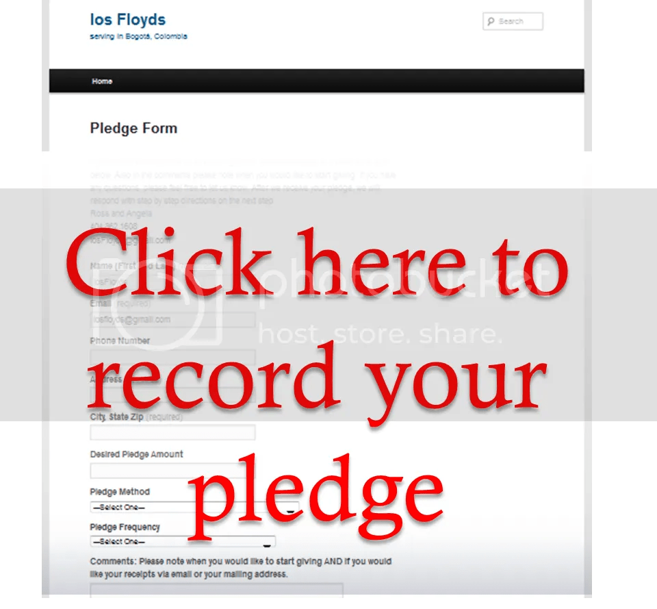 Click For Pledge Form