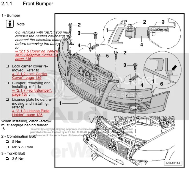 Service manual [How To Remove Front Bumper 2010 Audi A6