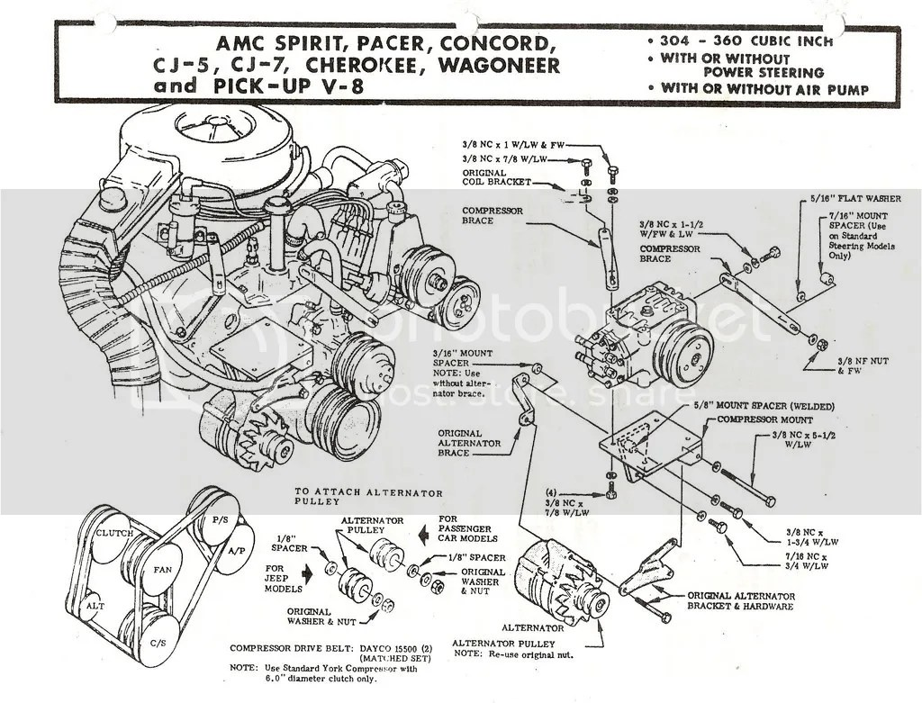 Amc V8 York Compressor Mount