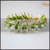DIY: Wrapped Rhinestone Friendship Bracelet