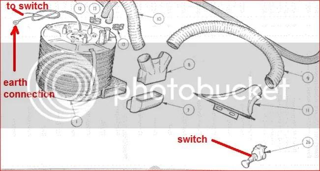 TR2/3/3A Tr3 heater wirer