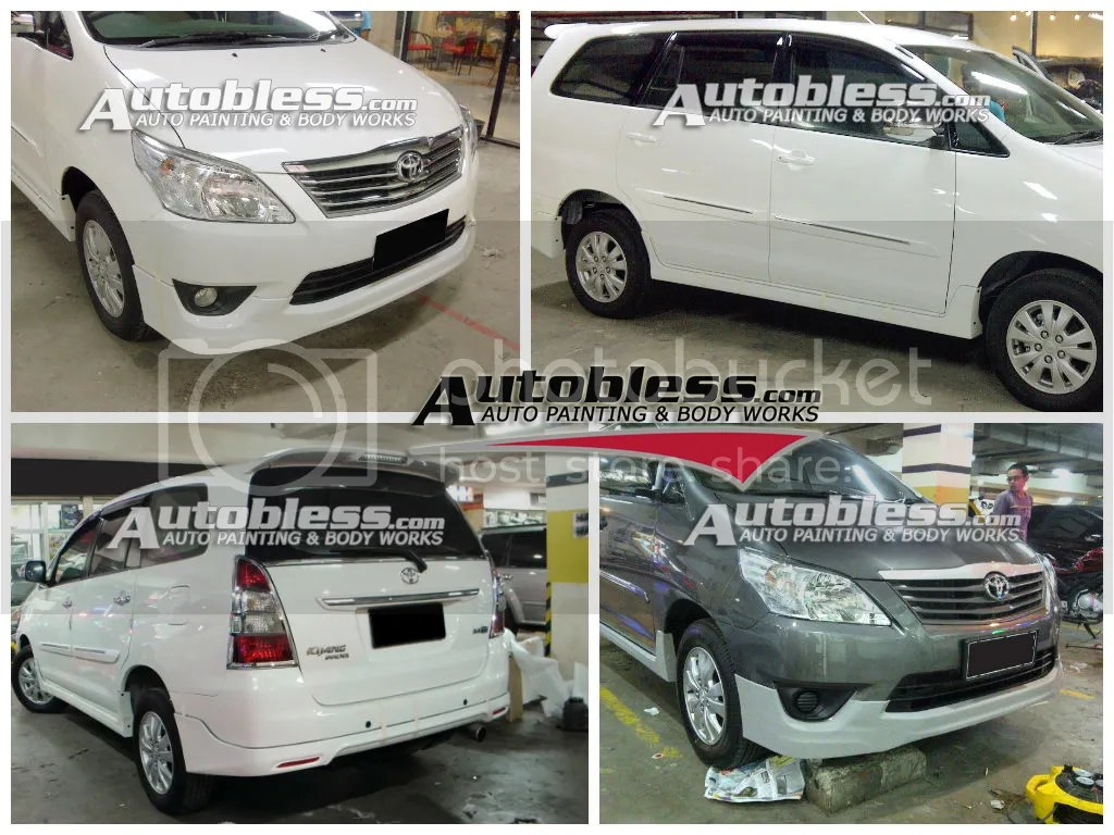 bodykit all new kijang innova berat grand veloz baru luxury 2012 toyota parts addon depan belakang side skirts