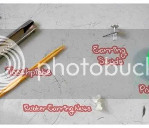 DIY false earring plugs {polymer clay tutorial} - materials