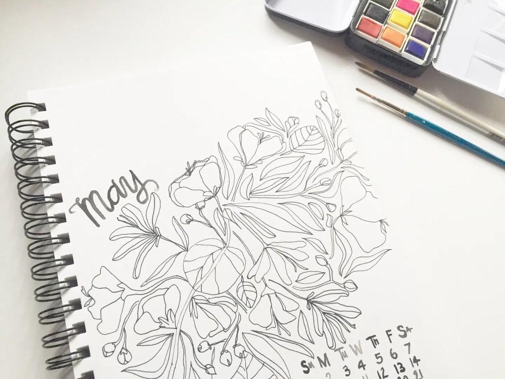 may goals printable calendar