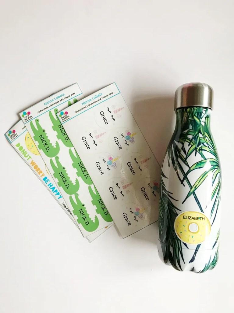 namebubbles water bottle