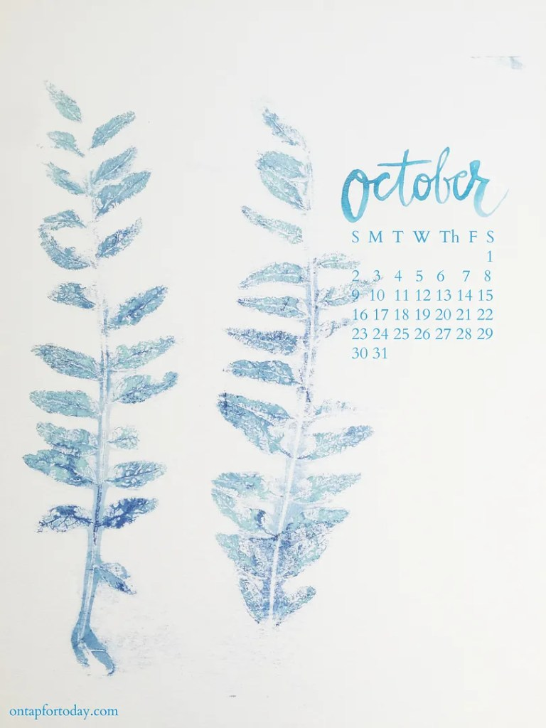 october goals printable calendar
