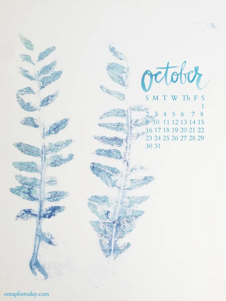 october goals printable calendar