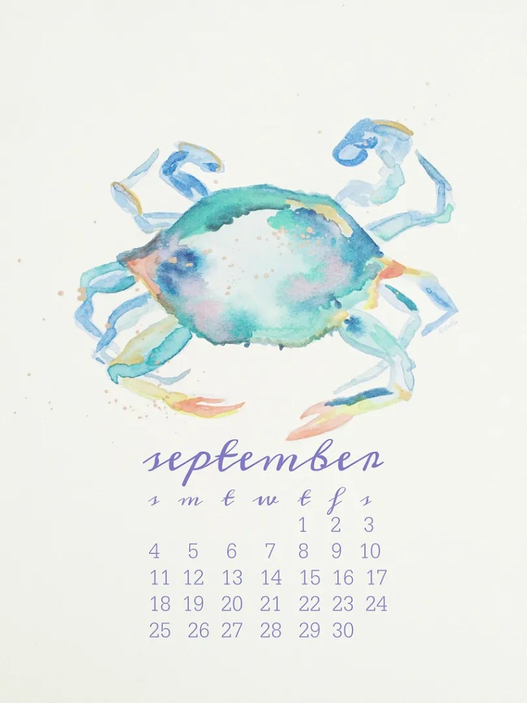 september goals printable calendar