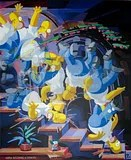 """For all you modern art buffs out there: """"Homer Descending A Staircase"""". photo 418156_10150674053442074_680792851_n.jpg"""