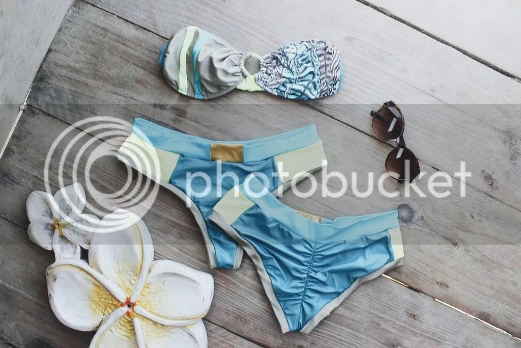 MIAHMO bikinis MH16009 top estrapless engomado en la espalda con panty perfect fit con trasero arruchado