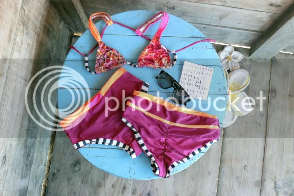 MIAHMO bikinis MH16013 top cruzado en la espalda panty alta perfect fit con arruche anatomico