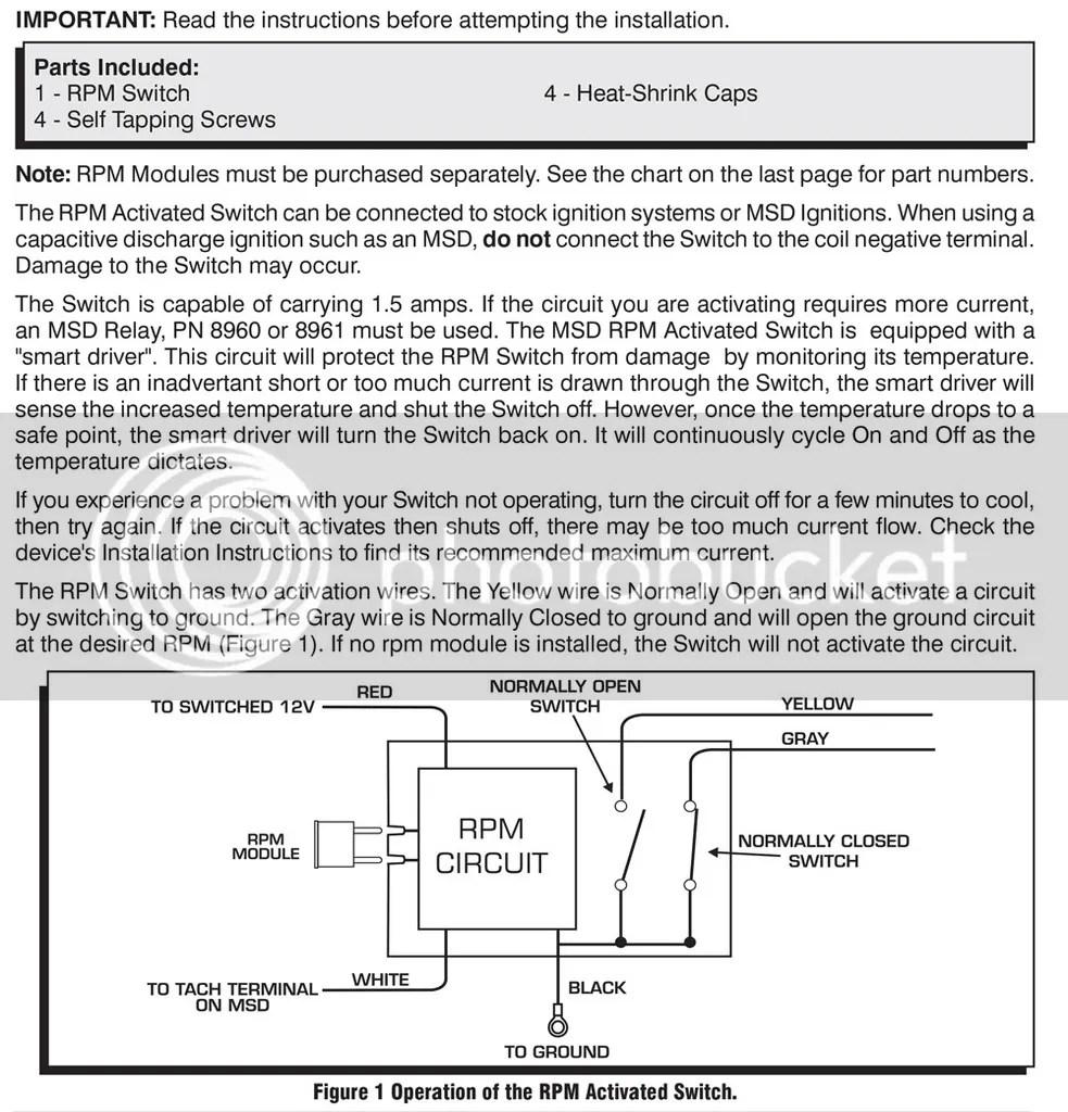 medium resolution of msd rpm activated switch wpm 8950 ebay rh ebay com solenoid switch wiring diagram shifnoid rpm switch