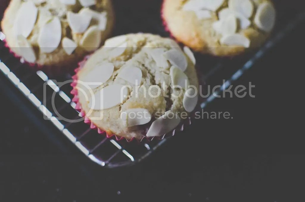 Raspberry, Applesauce & Almond Cupcakes