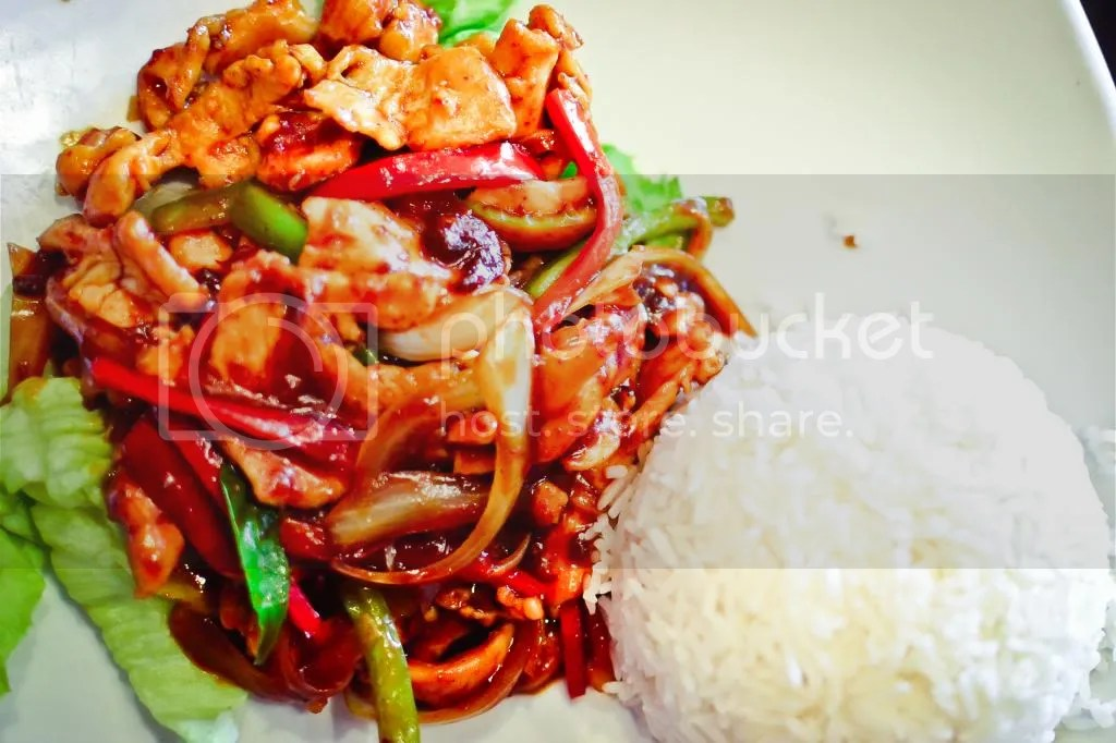 Batam Chilli Chicken with Rice