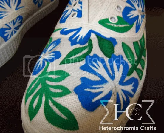 zapatillas shoes hawaii summer flowers diy