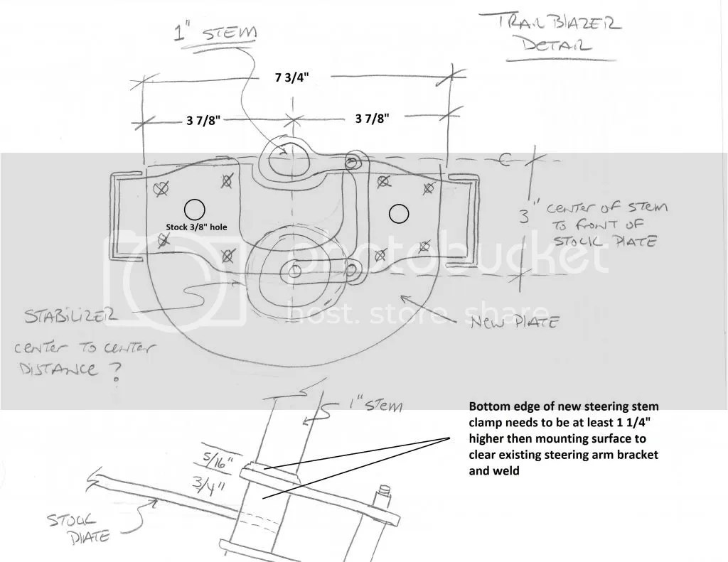 Trailblazer Steering Stabilizer Installed Images
