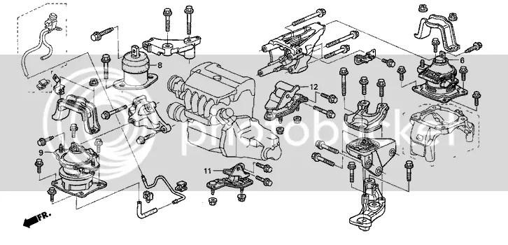 A4524 Transmission Engine Motor Mount Front For 03-07