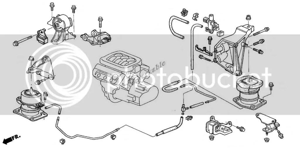G055 Transmission Engine Motor Mount Set For 00-03 Acura