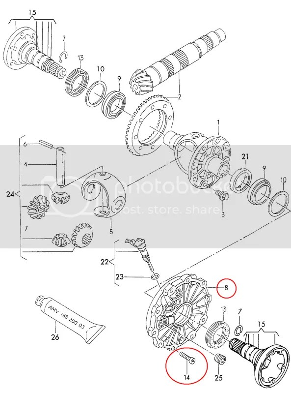 Rear diff seal, trans output shaft seal