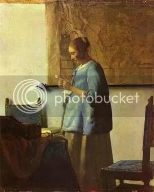 Vermeer kvinna i blått