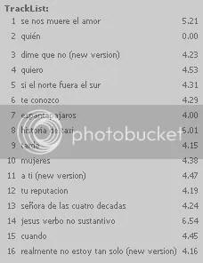 Tracklist de QUIÉN DIJO AYER
