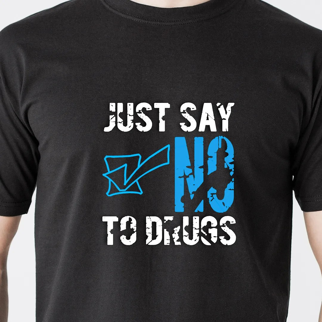 Just Say No To Drugs Drinking School Kids Teen Vintage Retro Funny T Shirt