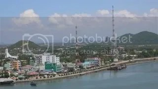 Ha Tien Town viewed from the hill