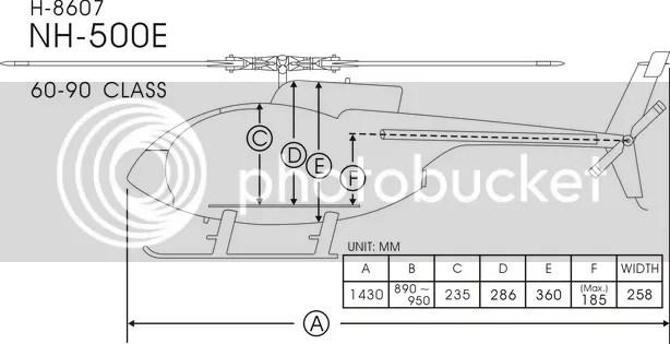 FUNKEY Scale fuselage NH-500E . 60(700) size Army Desert