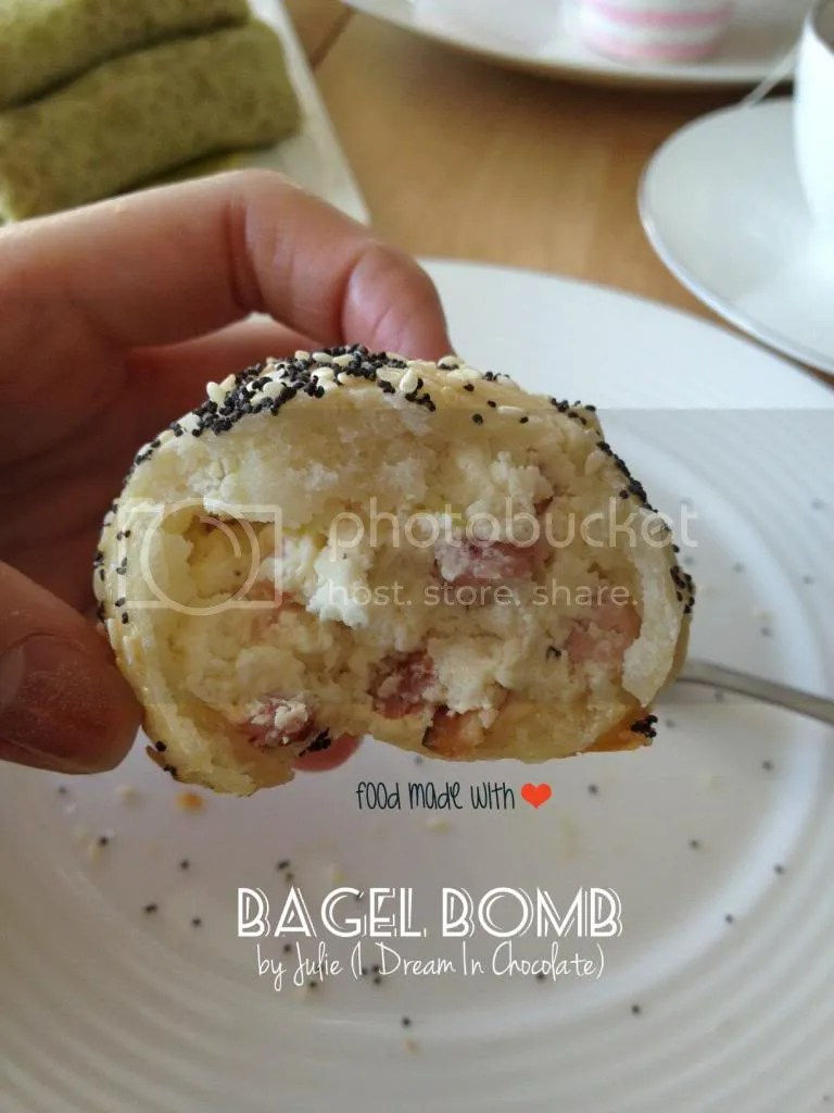 The inside of the bagel bomb